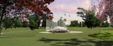 景观建筑设计后期处理PSD分层图片