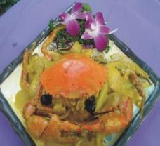 黄金咖喱炒蟹图片