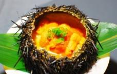 海胆蒸蛋 日本料理图片