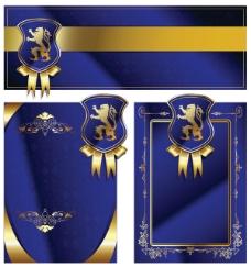 皇室盾牌丝带卡片