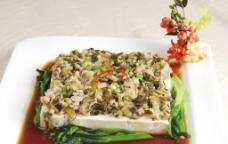 雪菜肉沫蒸豆腐图片