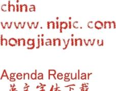 AgendaRegular英文字体
