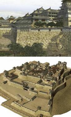 日本古城模型japanese_city图片