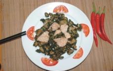 黄瓜干炒肉图片