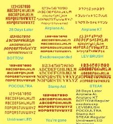 常用设计英文字体(其中一个字体文件解压错误)