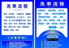 洗车流程图图片