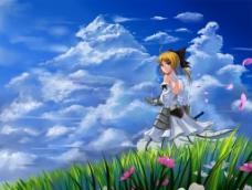 剑士美女图片