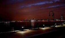 国外城市 景色 河边夜色图片