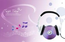 动感音符元素 音乐广告