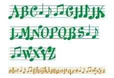 音乐英文字体