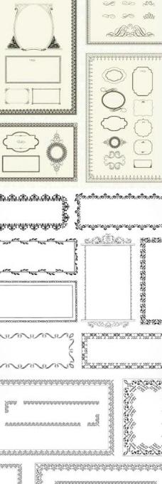 欧式花纹边框矢量素材图片