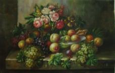 精美油画水果图片