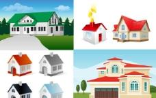 5款房子矢量素材图片