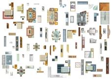 平面室内设计家具分层素材01