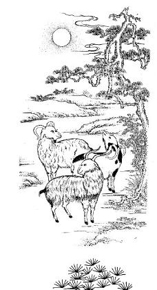 中国画岁寒三友之竹子图片