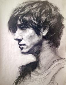 男 人物头像 素描图片