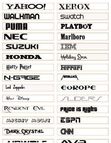 平面设计必备 300多个专业logo字体库