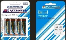 电池包装 挂卡 蓝色 白色 简约搭配图片
