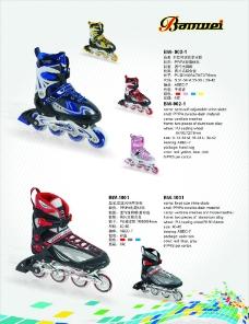 溜冰鞋 单页图片