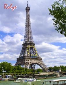 巴黎 塞纳河畔 埃菲尔铁塔图片