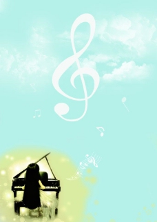 钢琴背景图片