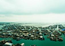 俯瞰海南渔船图片