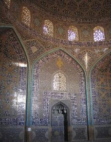 伊朗伊斯法罕清真寺天花板图片