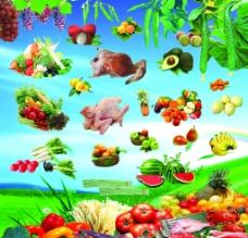 蔬菜 水果素材图片