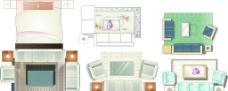 家居家具矢量素材图片
