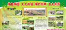 绿化家园 人人共创 保护树木 人人有责图片