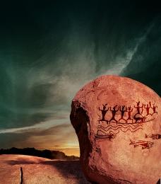 路牌岩石2