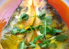泰式咖哩皇鱼头图片