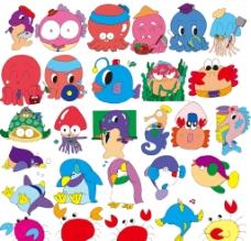 五颜六色的海洋生物图片