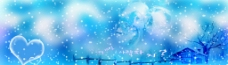 韩版蓝色婚纱模板图片