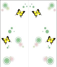 蝴蝶移门图片