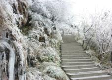 梵净山雪景图片