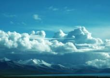纳木错的白云图片