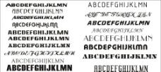 实用典型的英文字体