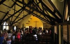 毛里求斯 路易港 红瓦耶稣教堂 内景图片