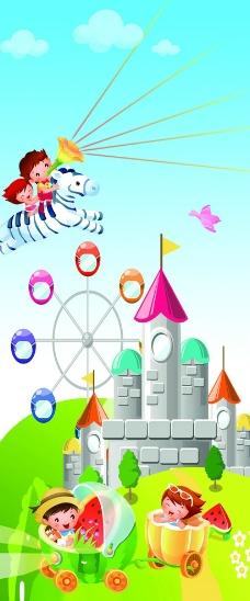 幼儿园卡通城堡图片