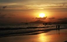 三亚湾夕阳图片