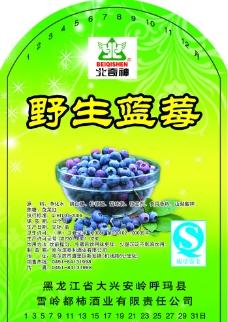 蓝莓标图片