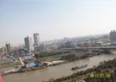 俯视运河图片