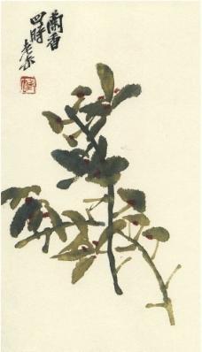 吴昌硕 兰香四时图片