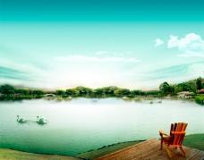 意境湖畔风光