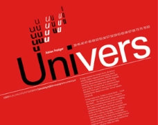 世界100佳 英文商业字体 10 Univers