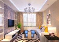现代简单客厅图片