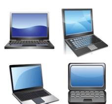 笔记本电脑与液晶显示器矢量素材图片