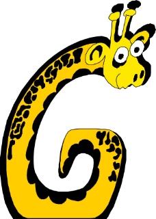 英文字母的长颈鹿图片