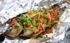 锡纸烤鱼图片
